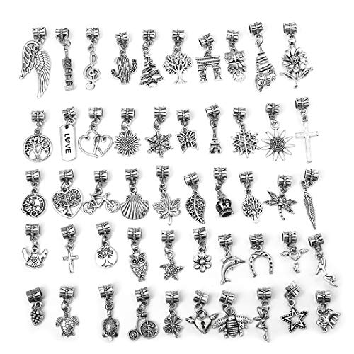 LANBEIDE 50 PCS Assorted Charms Wholesale Mixed Charms Pendants DIY for Jewelry Making and Crafting from LANBEIDE