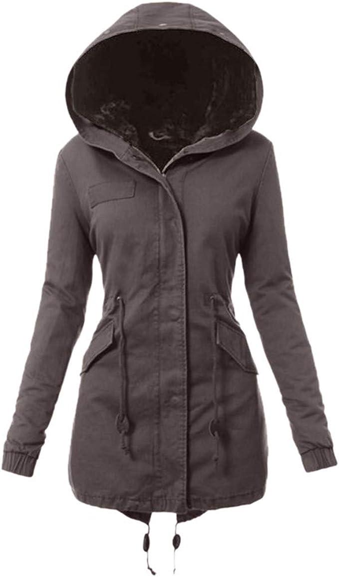 Hommes Femmes Mesdames imperméable à capuche Manteau Veste Polaire Coupe-Vent Hiver Travail