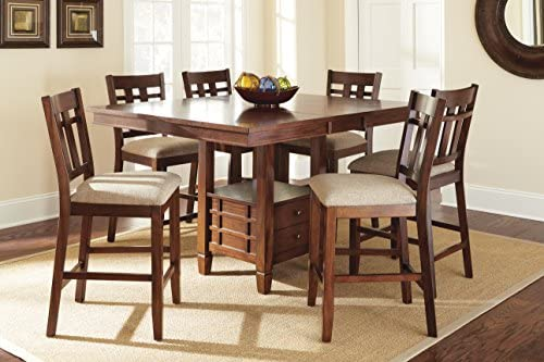 Steve Silver Company Bolton Counter Height Dining Table with Storage, 48\