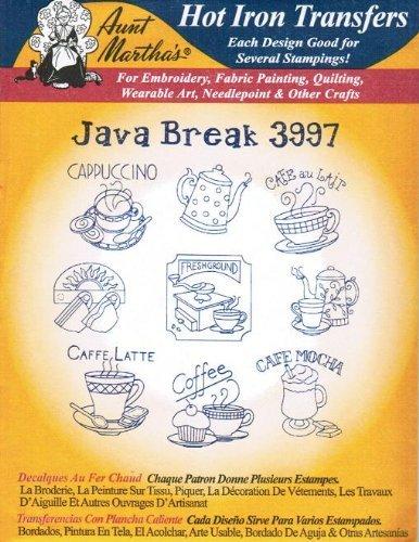 Java 3997 Break Aunt Martha's Hot Iron Embroidery Transfer