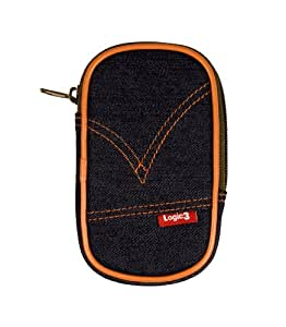 Logic3 Denim Case for PSP go - accesorios de juegos de pc (Negro, Naranja, Mezclilla)