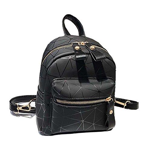 Cuir Sac Dos Artificiel Noir Noir Porté À Backpack Dos Filles Voyage Sac Cartable Epaule Femmes À Aa4wqx5YnI