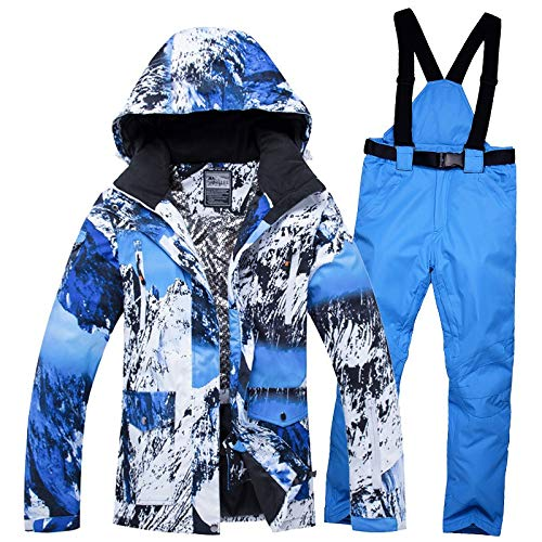 LEIT Couple ski Suit Waterproof Warm Men Women Ski Pants Single Double Board 12 XL