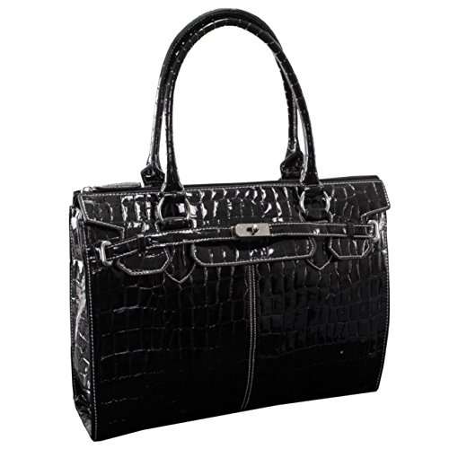 Leather And Patent Leather Tote Bag - 5