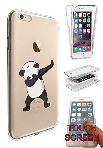 "c01419 - Panda DAB Dance Move Rap RnB Design iphone 7 4.7"" Fashion Trend Silikon Hülle Komplett 360 Degree Protection Flip Schutzhülle Gel Rubber Silicone Hülle"