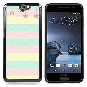"""For HTC One A9 Case , Patrón Estrellas niños hijos de Lunares Línea"""" - Diseño Patrón Teléfono Caso Cubierta Case Bumper Duro Protección Case Cover Funda"""