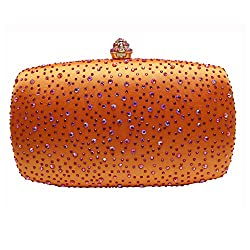 Crystal Studded Box Clutch