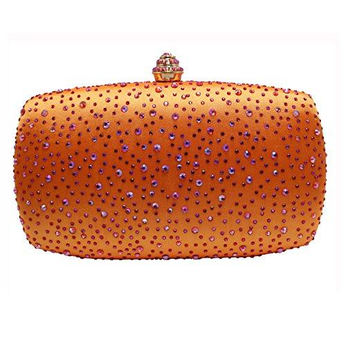 DMIX Womens Crystal Box Clutch Evening Bags ()