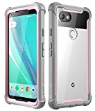 Google Pixel 2 XL case, i-Blason [Ares] Full-body Rugged Clear Bumper Case with Built-in Screen Protector for Google Pixel 2 XL 2017 Release (Pink)