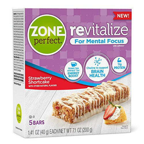 Zone Perfect Revitalize Energy Bars, with Caffeine For Me...