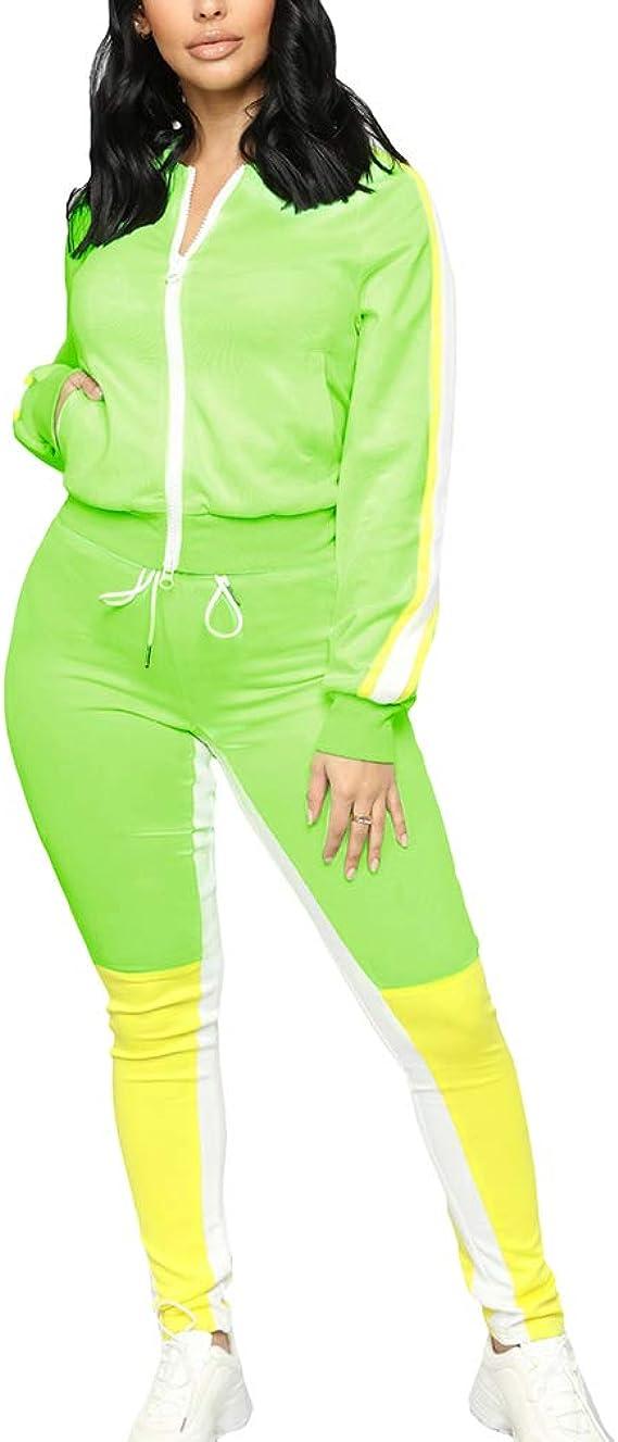 Yying Conjunto de Chándal a Juego de Color Verde Conjunto Mujer ...