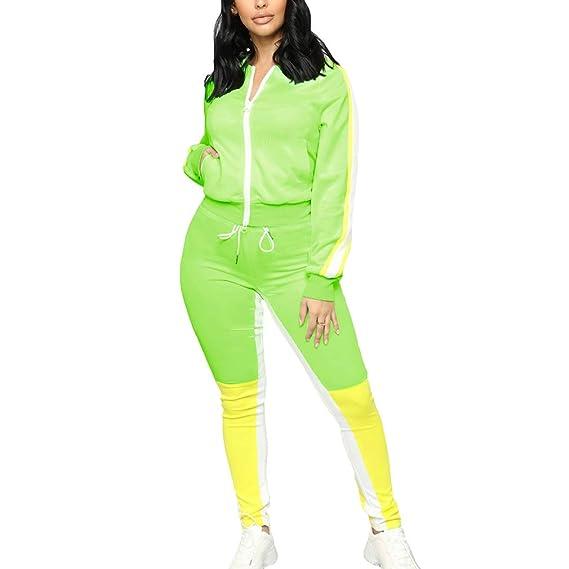 qiansu Nuevo Chándal de Mujer Conjunto de Dos Piezas Verde ...