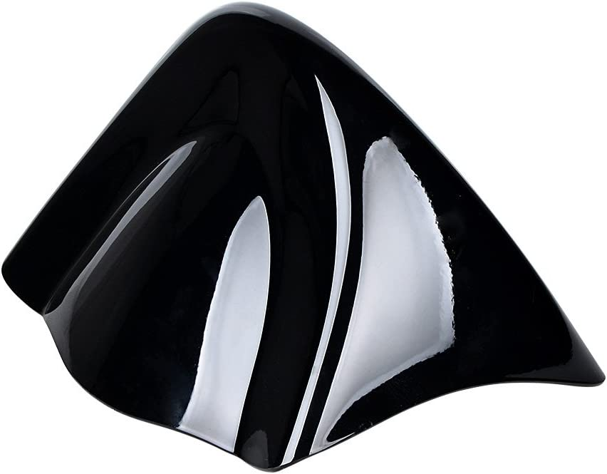 Glossy Black Front Chin Spoiler Air Dam Fairing Cover with Metal Bracket Smoke Motorcycle Hand Guards Wind Cold Protector Windshield Deflectors Compatible with 2006-17 Harley Dyna