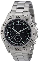 Timex T2N887 Mens Style Chrono Silver Watch