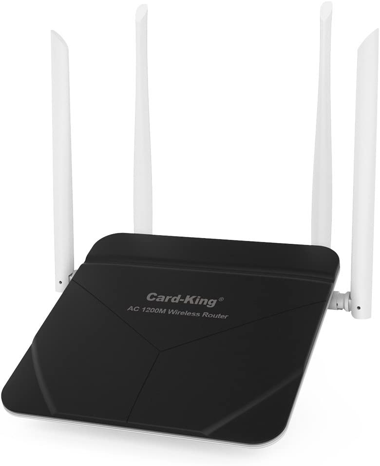 WiFi Router Long Range AC 1200mbps 5G/2.4Ghz High Speed WiFi Range Extender Dual Band with 4 LAN Ports for Home Office Internet Restauran Amazon Alexa Both Router / Repeater