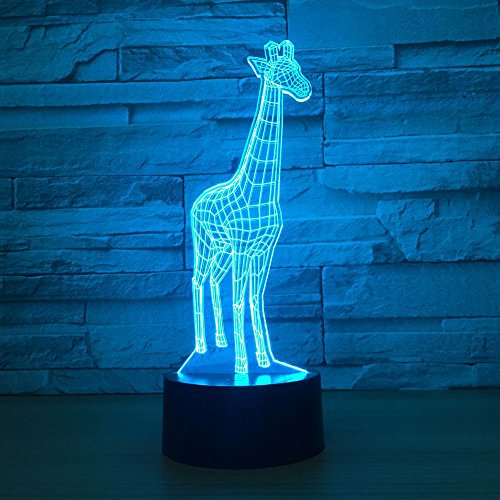 Aniamls Giraffe 3D Night Light Touch LED Table Desk Lamps 7 Color Changeable Desk Lamp Table Household Room Decoration Gift,Birthday Gift Christmas Gift Toys for Children Kids by Fuxiao