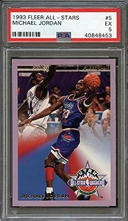 6ff278ed54b0c Amazon.com: 1990-91 fleer all-stars #5 MICHAEL JORDAN chicago bulls ...