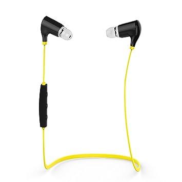 VicTop® QCY Qy5 Auriculares Bluetooth Estéreos Inalámbricos para hacer Deporte, amarillo: Amazon.es: Electrónica