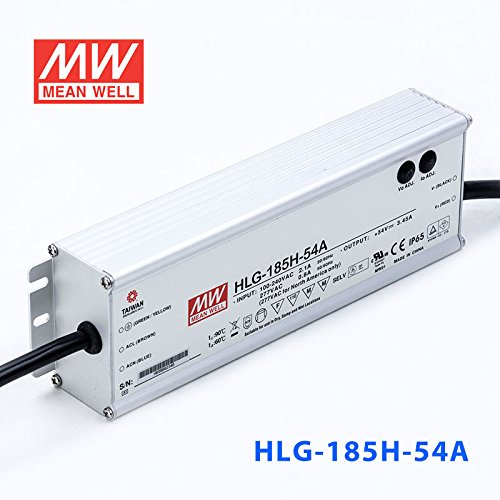 Meanwell HLG-185H-54A Power Supply - 185W 54V 3.45A - IP65 - Adjustable Output