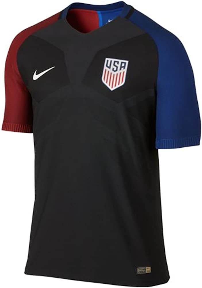 Nike Men's USA 16/17 Away Official Match Black/White Jersey