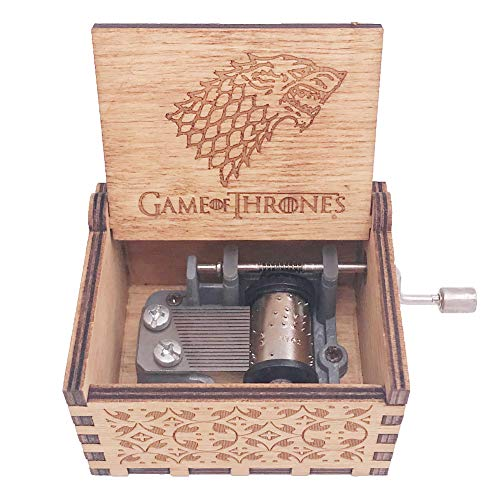 And Gifts Accessories Music - Game of Thrones Music Box Hand Crank Musical Box Carved Wooden Musical Gift,Play The Theme Song of Game of Thrones,Brown