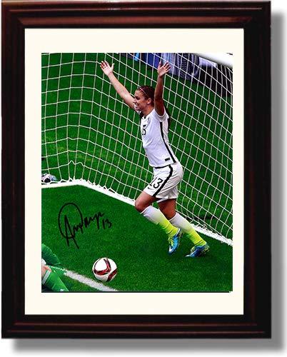 Framed Alex Morgan - Goal Celebration Autograph Replica Print (Alex Morgan Best Goals)