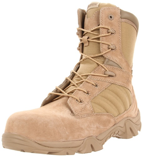Bates Men's Gx-8 Comp Toe Side Zip Work Boot,Desert/Tan,8.5 EW US
