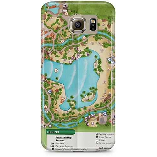 Queen of Cases Hard Shell Phone Case - Typhoon Lagoon - Disney Map Lagoon World Typhoon
