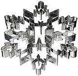 Large Size Metal Cookie Cutter Geometric Cake Cutters Snowflake Shapes Cookie Cutters For Fondant Decorating Set Fruit Cutter Sandwich Cutters For Kids Biscuit Cutters Bread Cutter