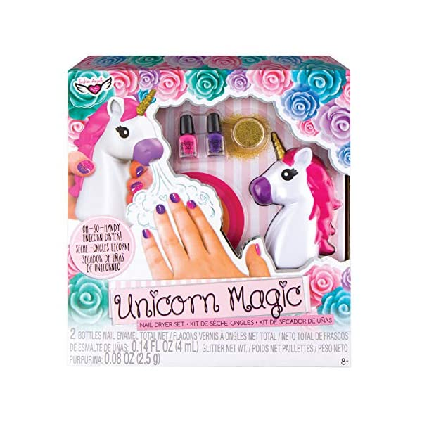 Fashion Angels Unicorn Magic Nail Dryer Set (12128) Nail Gift Set for Girls Ages 8 and Up,Brown/A 3