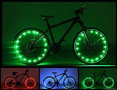 Luces LED para rueda de bicicleta, Camac impermeable rueda luces, 2 modos Ciclismo Rueda