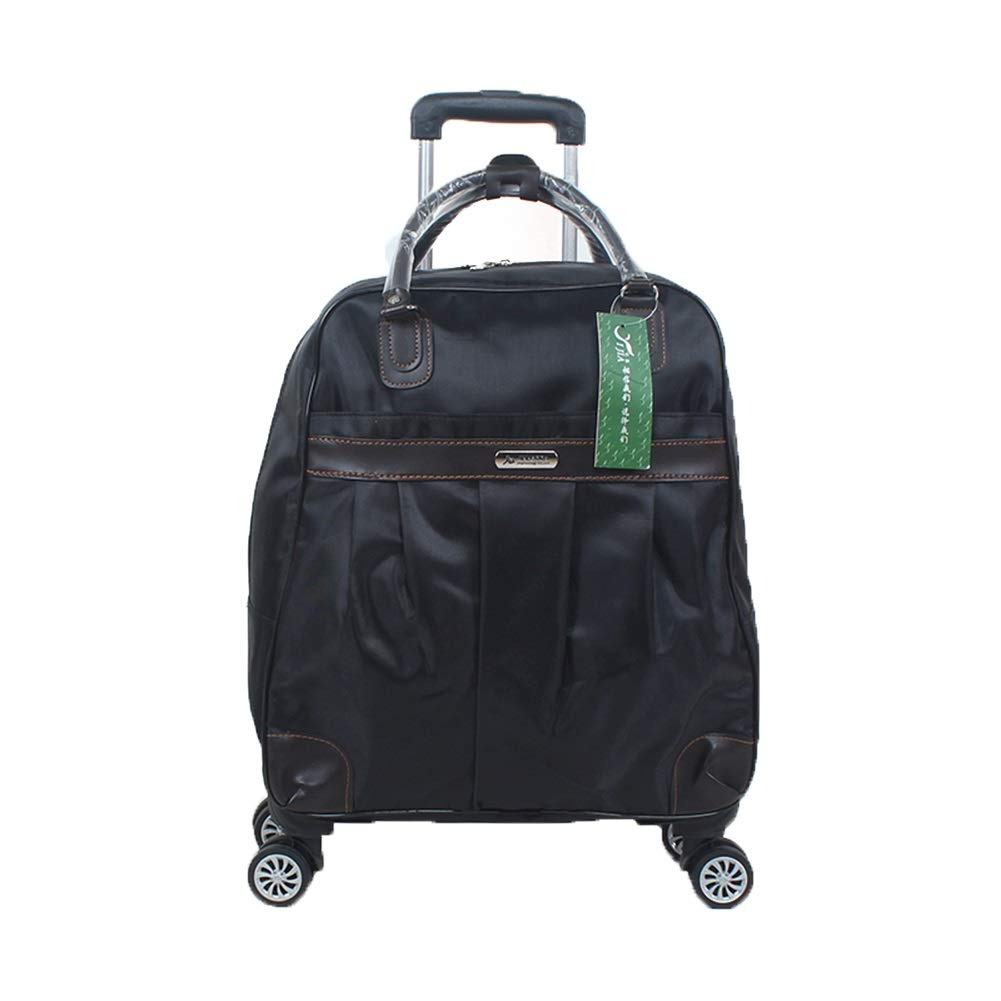 Color : Black, Size : L Travel Bags Soft Box Short-Distance 4 Rounds Boarding Trolley Case Luggage Suitcases Carry On Hand Luggage Durable Hold Tingting
