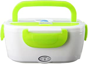 SAVEMORE4U18 12V 1.05L Capacity Portable Electric Heated Car Plug Heating Lunch Food Box Container For Car
