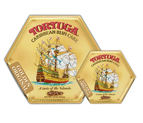 Tortuga Original Caribbean Rum Cake, 16-Ounce Cake - Pack of 2 by Tortuga