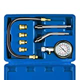 Auto Piston Spark Plug Compression Tester Kit | Automotive Fuel Petrol Gas Engine Motor Cylinder Pressure Gauge for Vehicle Marine Motorcycle ATV UTV Snowmobile Boat