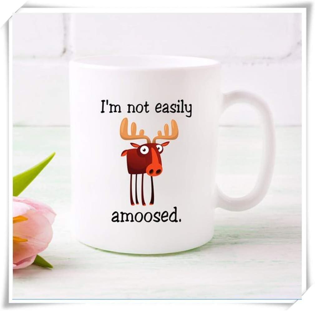 Comical Handmade Moose Ceramic Stoneware Mug