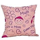 2019 EOWEO Happy Mothers' Day Pillow Cases Sofa Cushion Cover Home Decor Pillow Case(45cm×45cm,Multicolor-F)