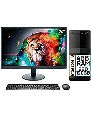 "Computador Completo Intel Core i3 4GB SSD 120GB Monitor LED 24"" HDMI EasyPC Go"