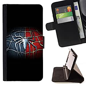 BETTY - FOR Apple Iphone 4 / 4S - Spider Hero - Style PU Leather Case Wallet Flip Stand Flap Closure Cover