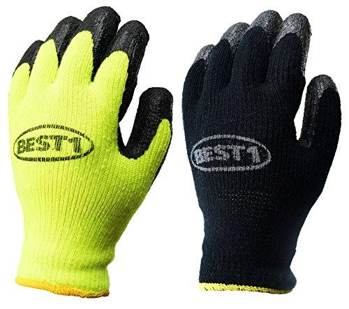 Black Pvc Coated Gloves - 7