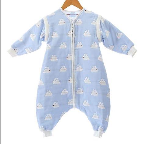 North King - Saco de dormir para bebé, algodón gasa, pierna dividida, saco