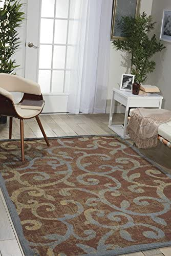 Nourison Expressions Multicolor Rectangle Area Rug, 9-Feet 6-Inches by 13-Feet 6-Inches 9 6 x 13 6