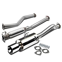 "Honda Civic EX EM2/ES2 D17 Stainless Steel 4"" Rolled Muffler Tip Catback Exhaust System"