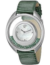 Women's VQO020015 Destiny Precious Analog Display Swiss Quartz Green Watch