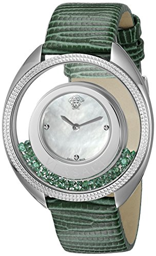 Versace Women's VQO020015 Destiny Precious Analog Display Swiss Quartz Green Watch