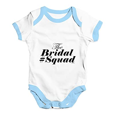 TWISTED ENVY The Bridal Squad Baby Unisex Funny Baby Grow Bodysuit