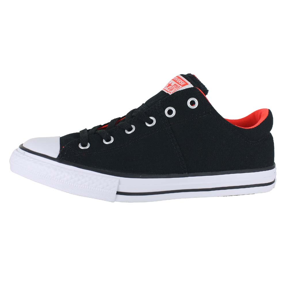 0452d3f63255ef Galleon - Converse Kids Chuck Taylor All Star Madison Ox Fashion Sneaker  Shoe - Black Lava White - Boys - 3
