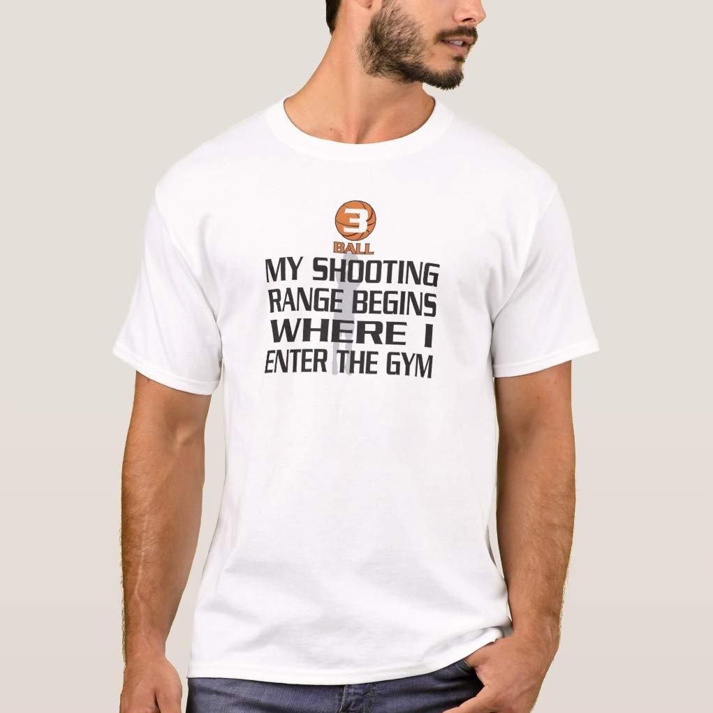 Crazymonkeyshirt Shooting Range Begins Where Enter The Gym T Shirt For Funny Short Sleeve
