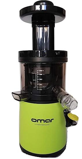 Extractor de zumo en frío profesional, extractor de zumo de verduras, sorbetto exprimidor lento 43 rpm, 3 cestos zumo-smoothie, Perfect Slow Juice, ...