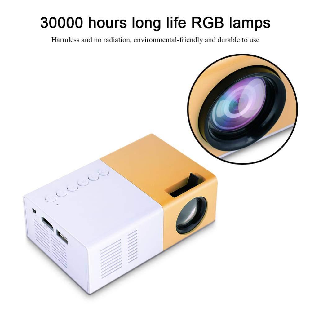 Mini proyector Portable Cine en casa proyector de Bolsillo HD HDMI ...
